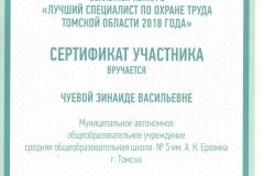 Сертификат участника лучший специалист по ОТ 2018